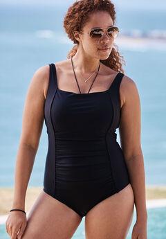 Square Neck Swimsuit,