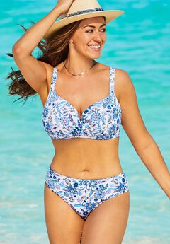 Ruler Bra Sized Underwire Bikini Set,