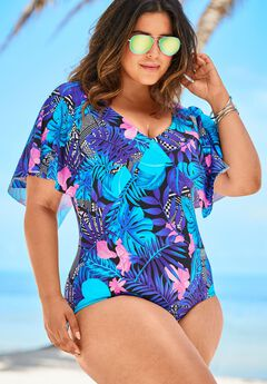 Flutter-Sleeve One-Piece,