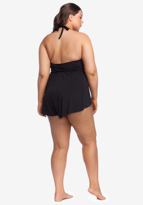 195798d8871 V-Neck Swim Romper by Kenneth Cole Reaction