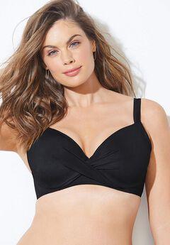 Dame Underwire Bikini Top, BLACK