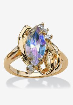Aurora Borealis Crystal Ring,