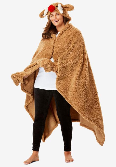 15c431819ef Animal Hood Sherpa Wrap by Dreams   Co.®