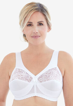 Glamorise® Magic Lift® Support Wireless Bra #1000, WHITE