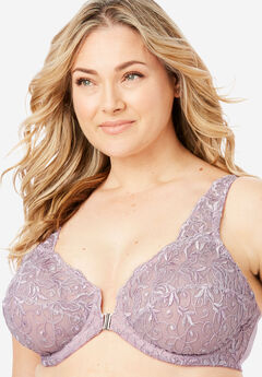 f1bb3ad3775a6 Embroidered Front-Close Underwire Bra by Amoureuse®