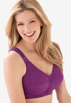 Lace Wireless Posture Bra by Comfort Choice®, DARK RASPBERRY