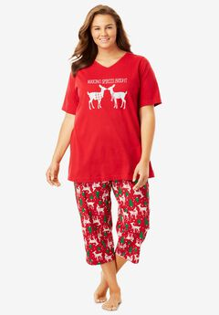 2-Piece Capri PJ Set by Dreams & Co®,