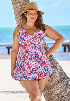 Surplice Swim Dress ,