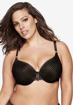Icon Stripe Lace Bra by Ashley Graham®,