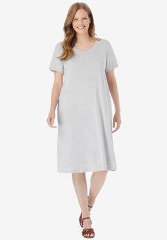 Short-Sleeve Crewneck Tee Dress,