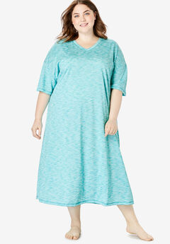 Long Marled Sleepshirt by Dreams & Co.®, WATERFALL