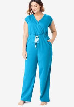 Surplice Fleece Jumpsuit by Dreams & Co.®,
