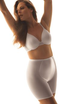 High-waist mesh long leg shaper by Secret Solutions® Curvewear,
