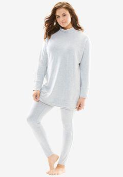 Mock Neck Sweatshirt Lounge Set by Dreams & Co.®,
