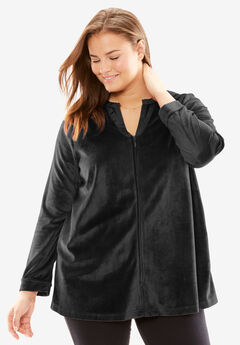Velour Bed Jacket by Only Necessities®,
