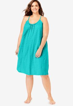 Breezy Eyelet Knit Short Nightgown,