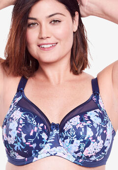 Goddess® Keira and Kayla Underwire Bra 6090/6162, BLUE BELLE PRINT