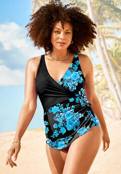 Faux-Wrap Sarong One Piece,