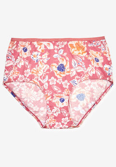 Cotton Full-Cut Brief by Comfort Choice®, SALMON ROSE FLORAL