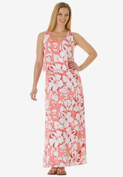 Layered Popover Maxi Dress,