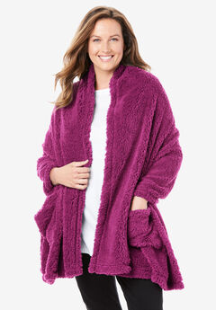 Sherpa Fleece Wrap, RASPBERRY