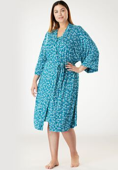 Print Kimono Wrap Robe by by Dreams & Co.®,