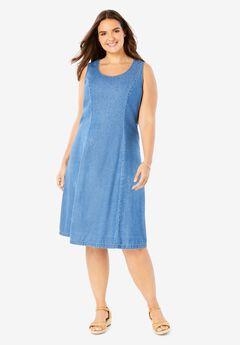 Sleeveless Denim Dress,