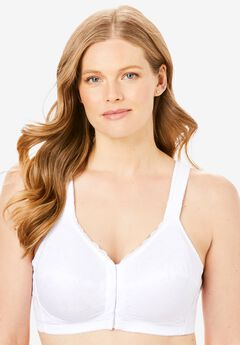 Lace Wireless Posture Bra by Comfort Choice®, WHITE