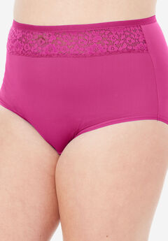 Mesh Insert Microfiber Full Cut Brief by Comfort Choice®, BRIGHT BERRY