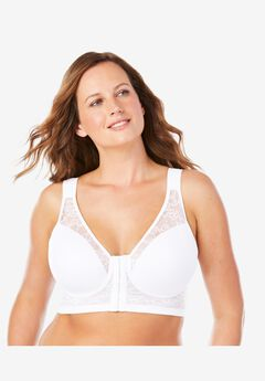 Leading Lady® Ava Front-Close Lace Wireless Posture Bra #5230,