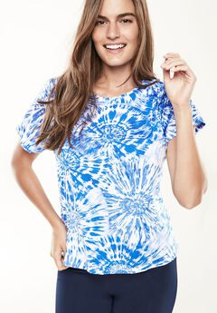 The Swim Tee , BLUE TIE DYE