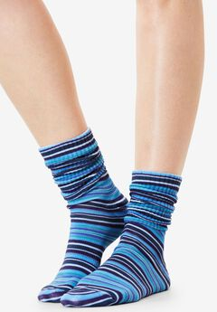 3-Pack Patterned Crew Socks by Comfort Choice®,