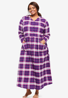 Flannel Plaid Lounger by Only Necessities®, RICH VIOLET BLUE PLAID