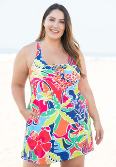 Lace-Up Swimdress ,