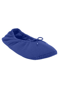 Knit Ballerina Slippers by Dreams & Co.®, BLUE SAPPHIRE