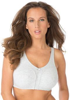 Cotton Wireless Bra by Comfort Choice®, HEATHER GREY