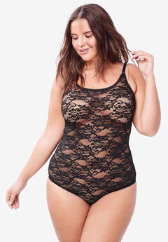 Spaghetti Strap Lace Bodysuit by Comfort Choice®,