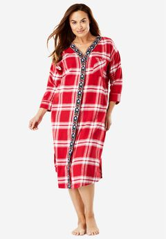 Plaid Button Down Lounger by Dreams & Co.®,