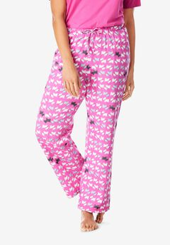 Knit Sleep Pant by Dreams & Co.®, ROSEBUD SCOTTIES