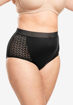 Mesh Sides Full-Cut Brief by Comfort Choice®,