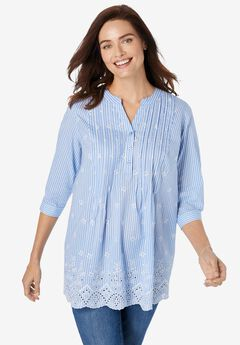 Embroidered Cotton Tunic,