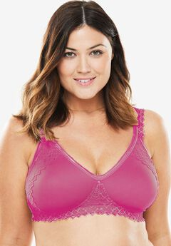 Lace-Trim T-Shirt Bra by Comfort Choice®,