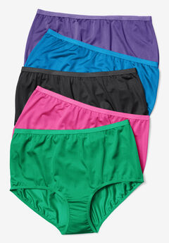 5-Pack Nylon Full-Cut Brief by Comfort Choice®, BRIGHT PACK