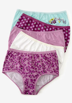 5-Pack Stretch Cotton Full-Cut Brief by Comfort Choice®, SPRING FLORAL PACK