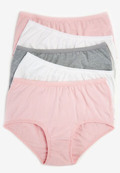 5-Pack Stretch Cotton Full-Cut Brief by Comfort Choice®, BASIC PACK