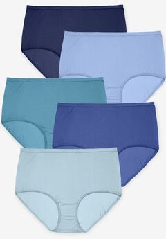 10-Pack Nylon Full-Cut Brief by Comfort Choice®, BLUE MULTI PACK