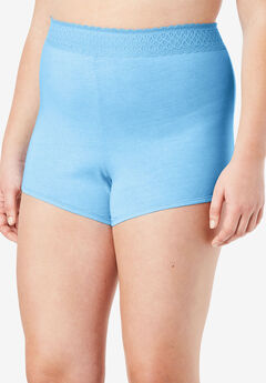 3-Pack Lace Waistband Boyshort by Comfort Choice®, BABY BLUE PACK