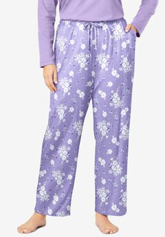 Knit Sleep Pant , SOFT IRIS FLORAL