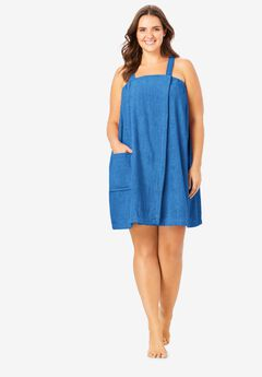 Dreams & Co.® Terry Towel Wrap, CORNFLOWER BLUE