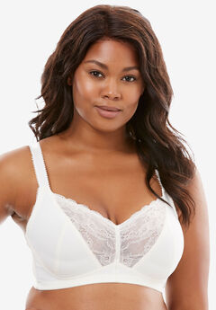 Lace-Trim Wireless Bra by Amoureuse®,